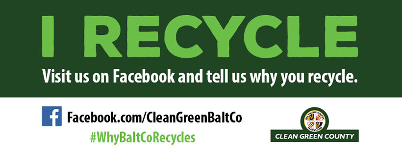Visit us on facebook and tell us why you recycle.