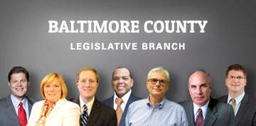 A group photo of the Baltimore County Council.